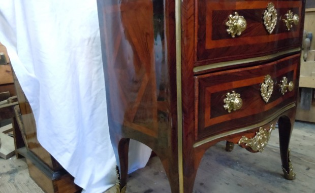 Commode Estampille de Mondon Restauration Cedric Sauvage Grenoble